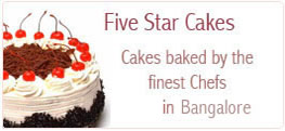 Five Star Cakes to Bangalore